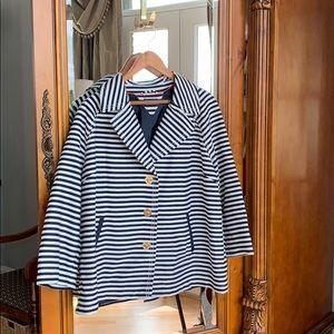 Tommy Hilfiger Navy & Wht Pinstripe Jacket